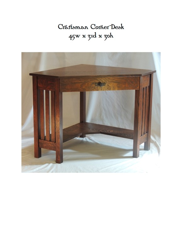 Craftsman Corner Desk