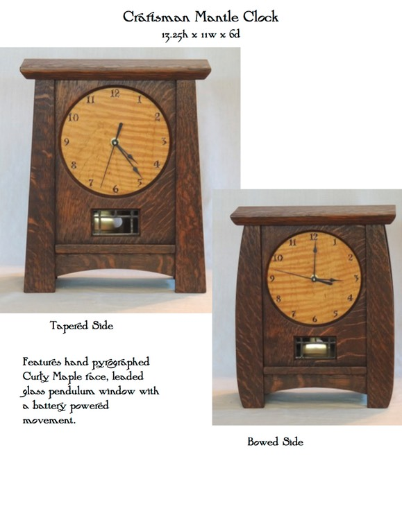 Craftsman Mantle Clock
