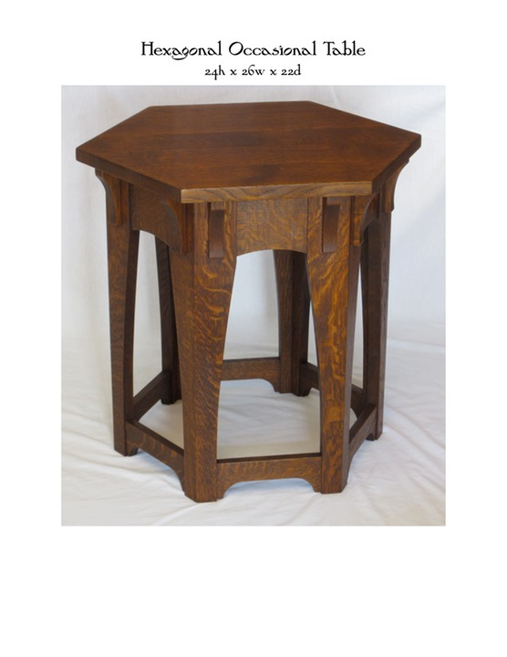 Hexagonal Occasional Table