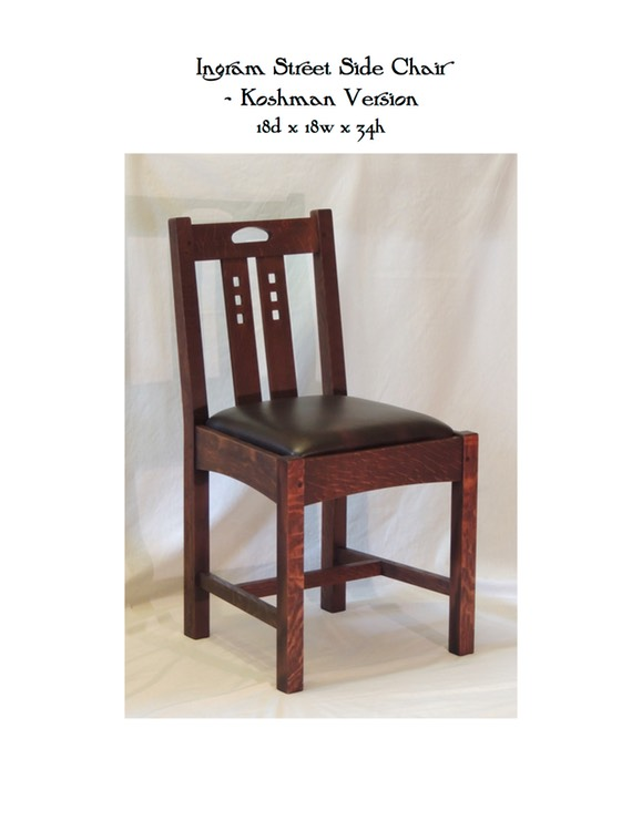Ingram Street Side Chair - Koshman Version