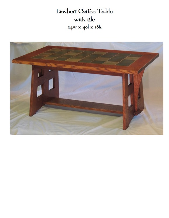 Limbert Coffee Table With Tile