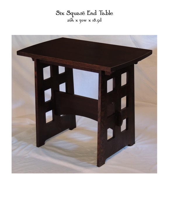 Six Square End Table