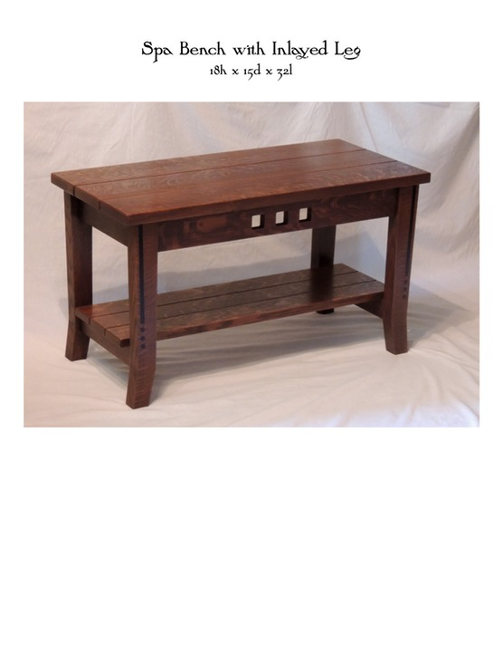 Spa Bench with Inlayed Leg