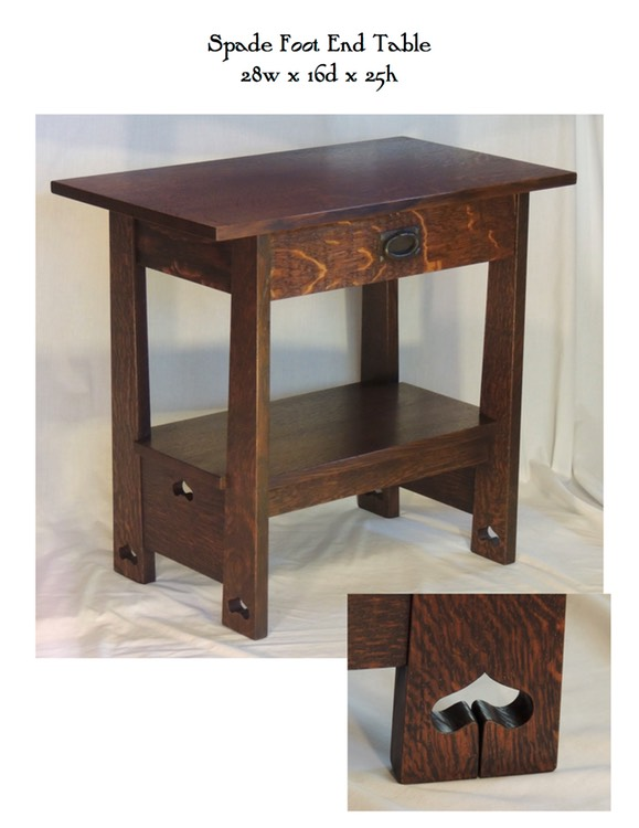 Spade Foot End Table